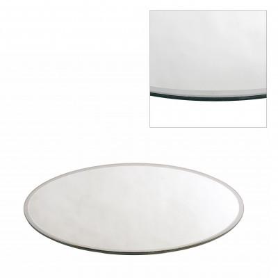 <h4>Glas kleur Bord spiegel rond d50cm</h4>