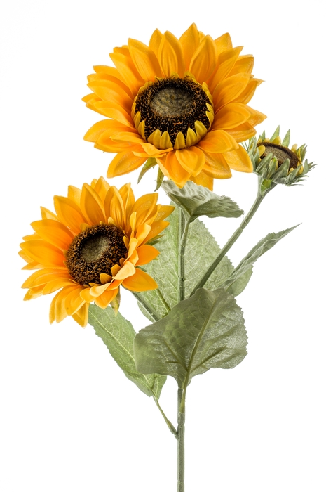 <h4>SILK SUNFLOWER SPRAY X3 62CM YELLOW 419953</h4>
