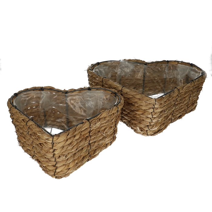 <h4>Baskets Rope heart S/2 d33/31.5*11cm</h4>