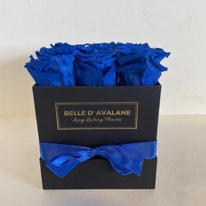 Box vk 15cm zwart-blauw
