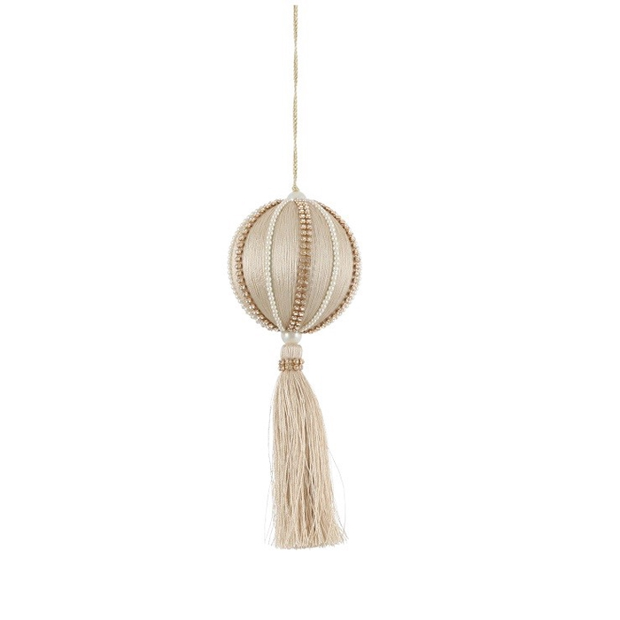 <h4>Christmas bauble Ball 70mm tassel</h4>