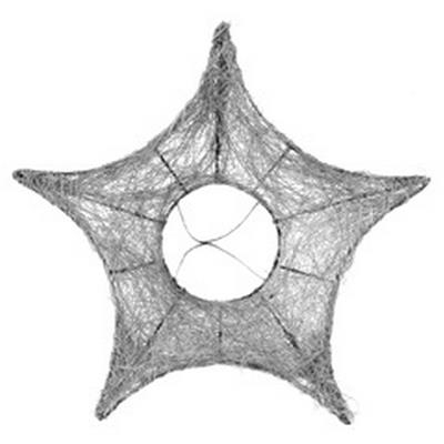 <h4>Bouquet holder Star sisal Ø25cm Silver</h4>