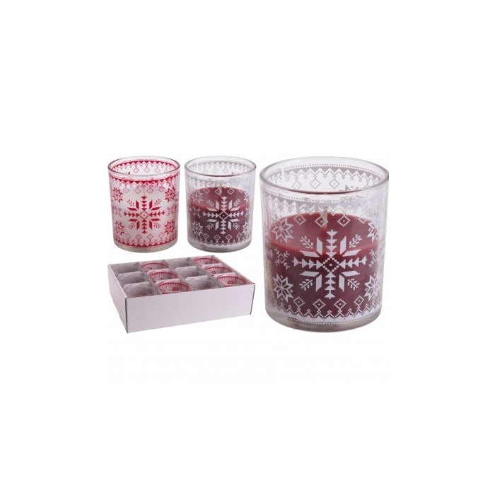 <h4>Candle Glass deco d9*8cm ass</h4>