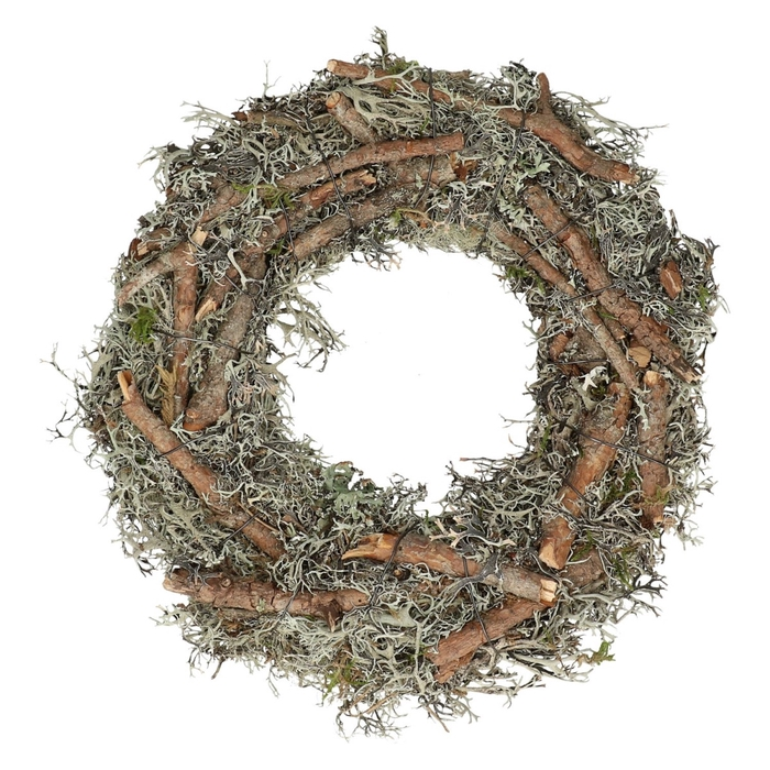 <h4>Wreath d20cm Moss+branches</h4>