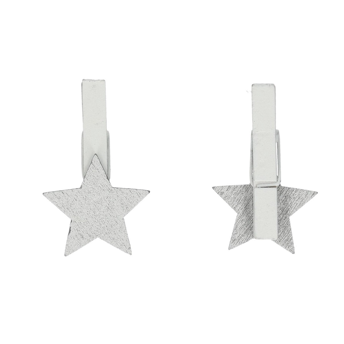 <h4>Christmas Pegs star 3cm x36</h4>