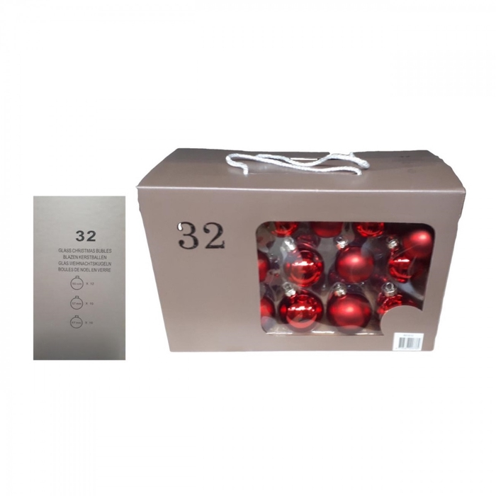 <h4>Christmas bauble Ball 50-70mm box ass. x32</h4>