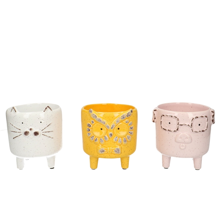 <h4>Ceramics Animal pot/feet d10.5*9.5cm</h4>