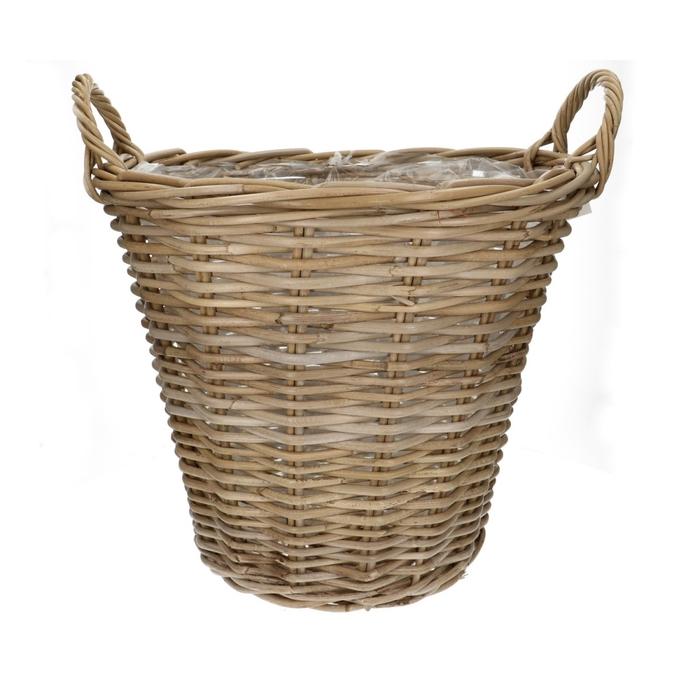 <h4>Baskets Rattan pot+handle d45*40cm</h4>