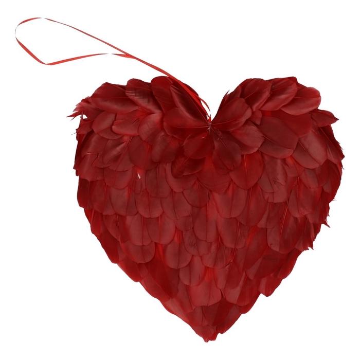 <h4>Valentijn Hart veren d24cm</h4>