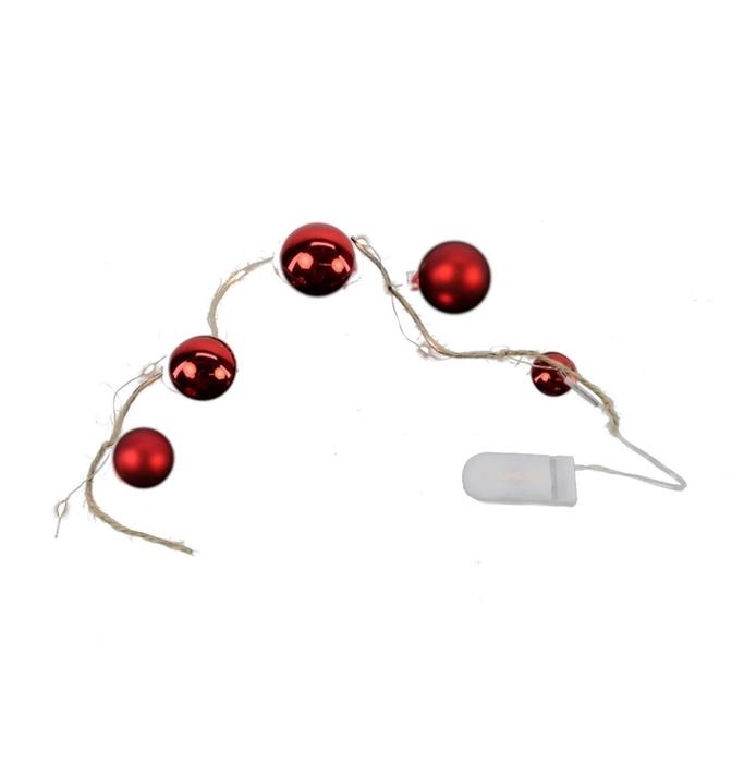 <h4>Kerst LED draad bal  5L 60cm (ex.bat)</h4>
