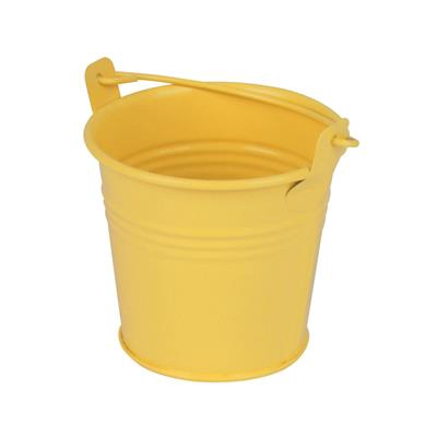 <h4>Bucket Sevilla zinc Ø8,2xH7,2cm - ES7 yellow matt</h4>