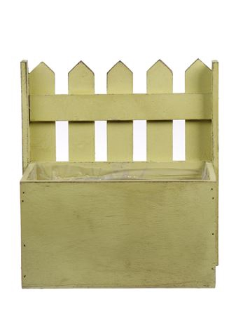 <h4>Planter Fence1 wood 18x11xh20 yellow</h4>
