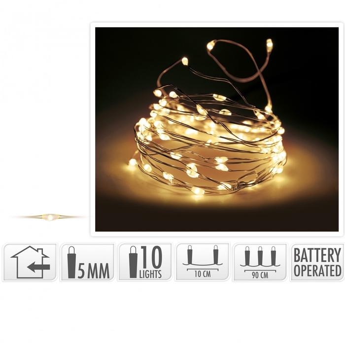 <h4>Christmas LED wire  10lmp (incl. batt)</h4>