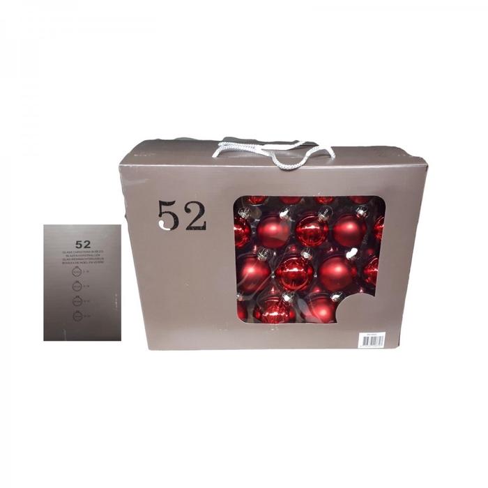 <h4>Christmas bauble Ball 40-70mm box ass x52</h4>