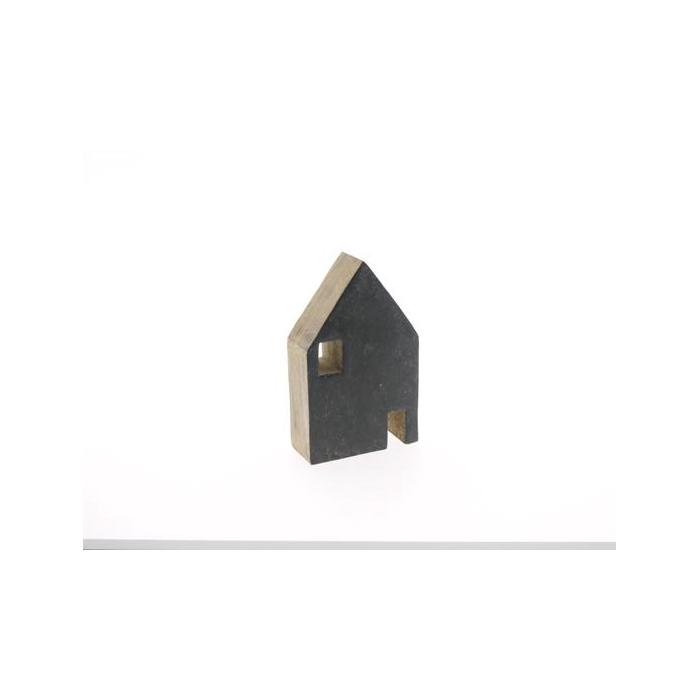<h4>House Wood 14x9cm Cement</h4>