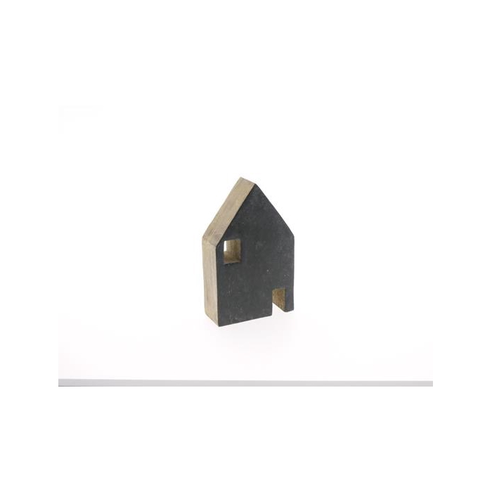<h4>House Wood 14x9cm Cement</h4>