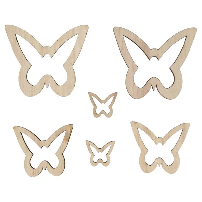 <h4>Voorjaar Hout vlinder open 2.5-7cm x20</h4>