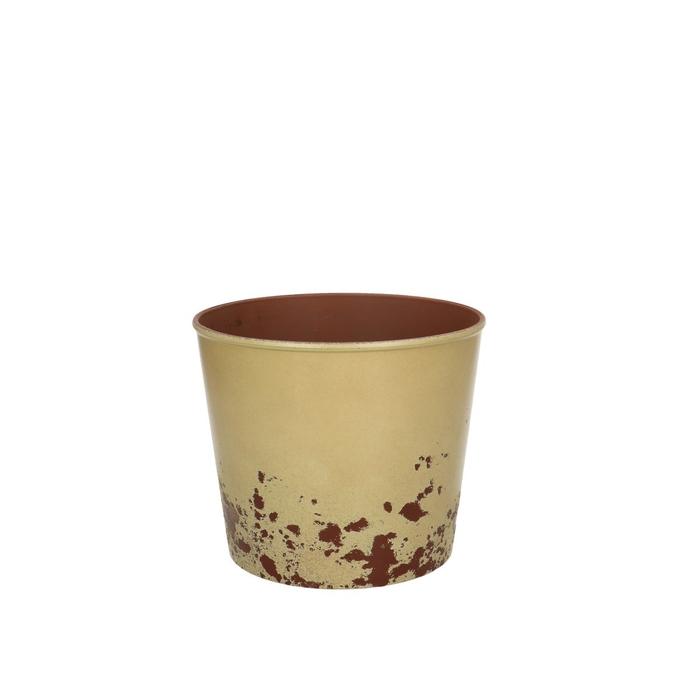 <h4>Plastic Melam rust pot d15*13cm</h4>