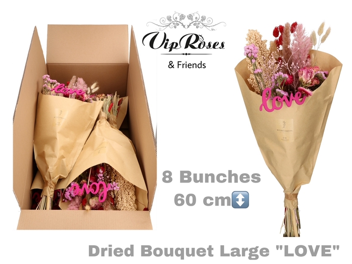 DRIED BOUQUET LARGE LOVE