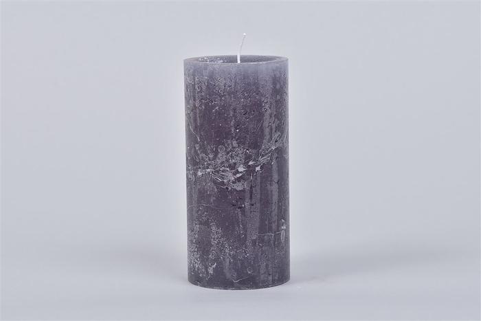 <h4>Kaars Krul Grey Blue 7x15cm</h4>