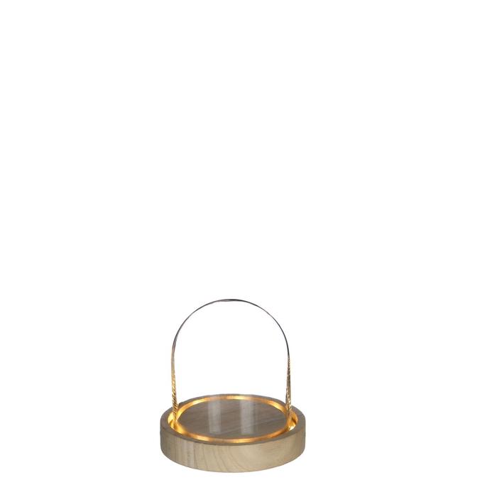<h4>Glas LED stolp d10*10.5cm incl.batt.</h4>