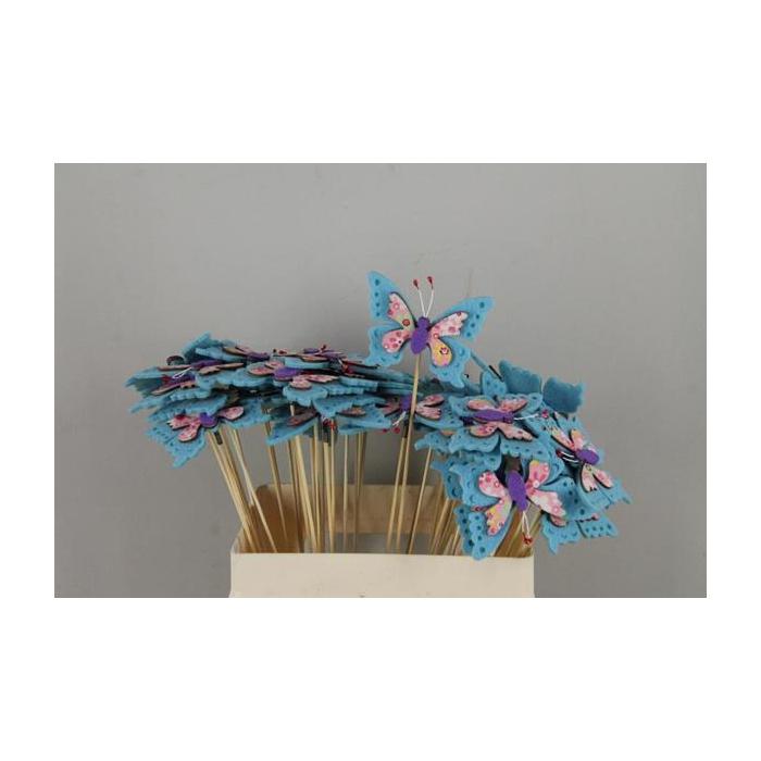 <h4>Stick Butterfly Felt+wd Blue</h4>