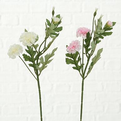 <h4>Zijde, Chrysanthemums, H 47 cm, 2 ass, White, Rose</h4>