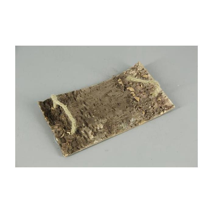 <h4>Birch Bark Slice+rope 30x19cm</h4>