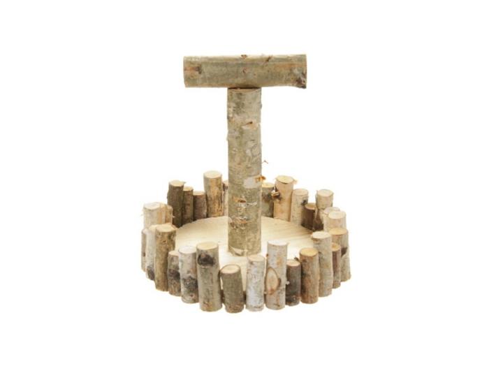 <h4>DF883494300 - Tray wood+handle d22cm</h4>