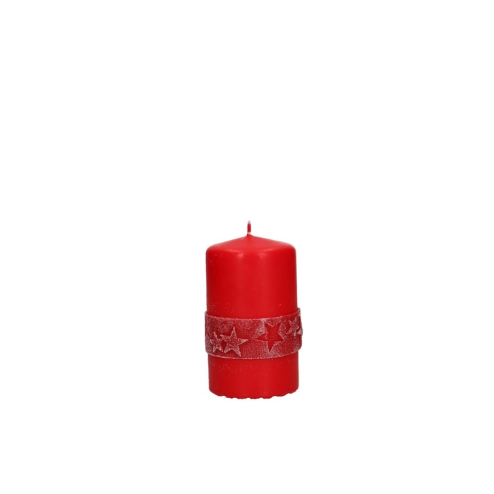 <h4>Candle Cylinder Star deco d06*10cm</h4>