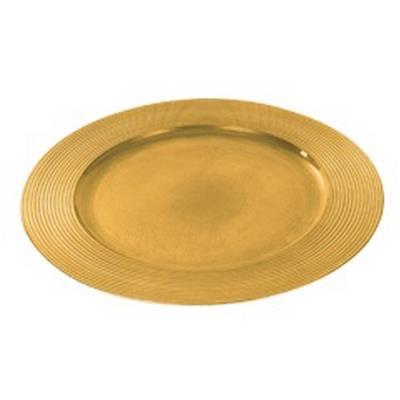 <h4>Asiette plate rond en plastique ø33cm or</h4>