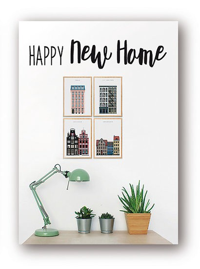 <h4>Labels Card 08*6cm x12 Happy new home</h4>