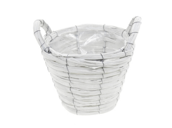 <h4>DF470602700 - Basket Paia1 d21xh16 white</h4>