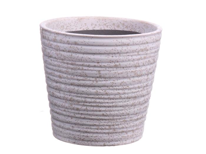 <h4>DF550080147 - Pot taper Tobias d13.5xh13 white</h4>