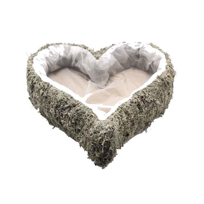<h4>Planter grey moss Heart L40cm B40 Naturel</h4>
