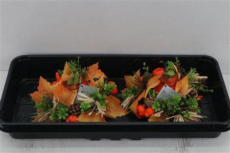 <h4>Wax Hipp Autumn Wreath Orange</h4>