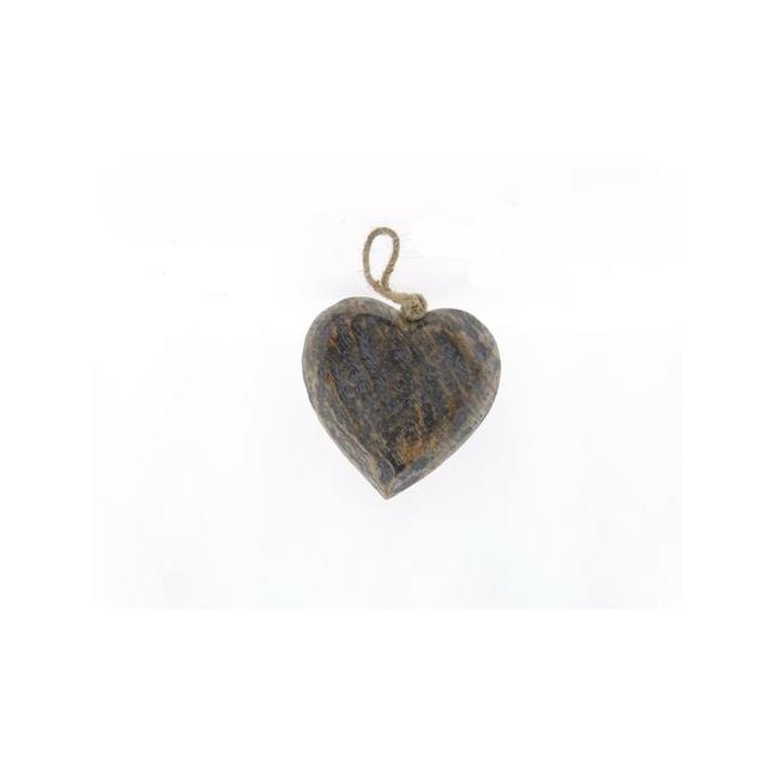 <h4>Heart Wood  Hang 15cm Greywash</h4>