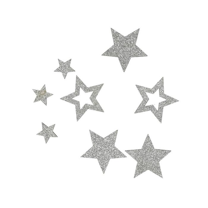 <h4>Christmas Stars glitter 2-4cm x24 ass.</h4>