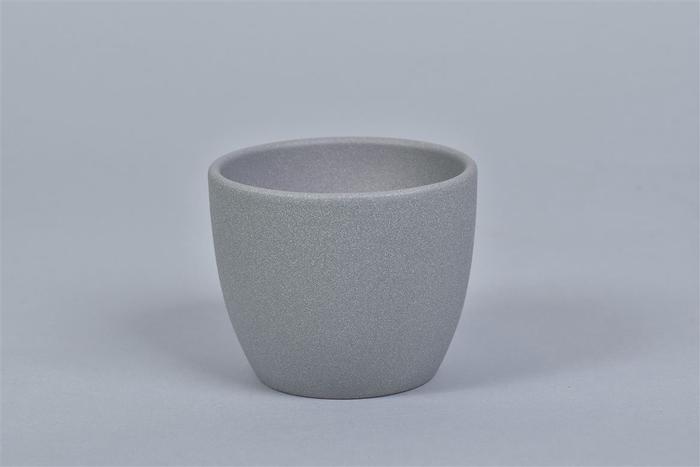 <h4>Keramiek Pot Grijs 10cm</h4>