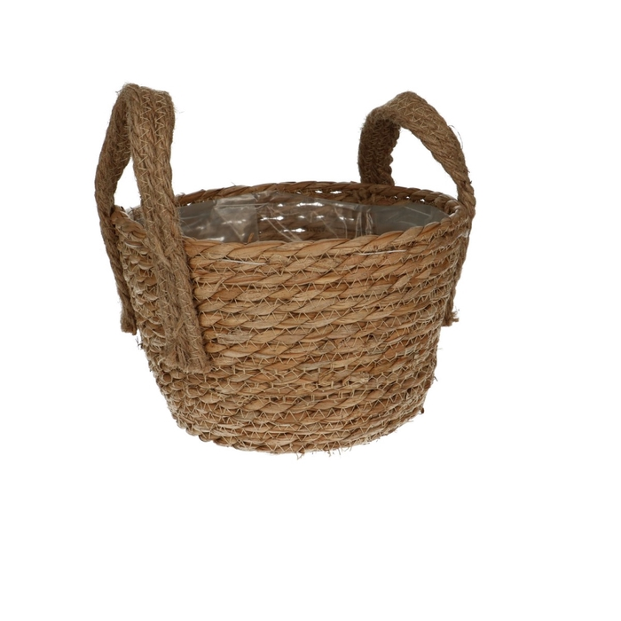 <h4>Baskets Jute round+ear d21*13cm</h4>