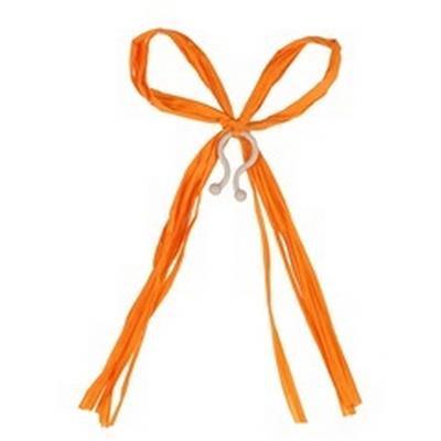 <h4>Raffia strik 17x12cm + clip oranje</h4>