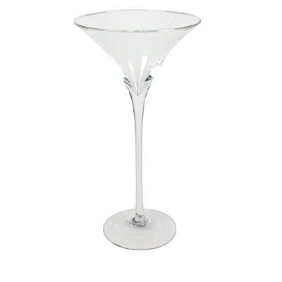 <h4>Schaal op voet Asmara glas ø26xH60cm</h4>