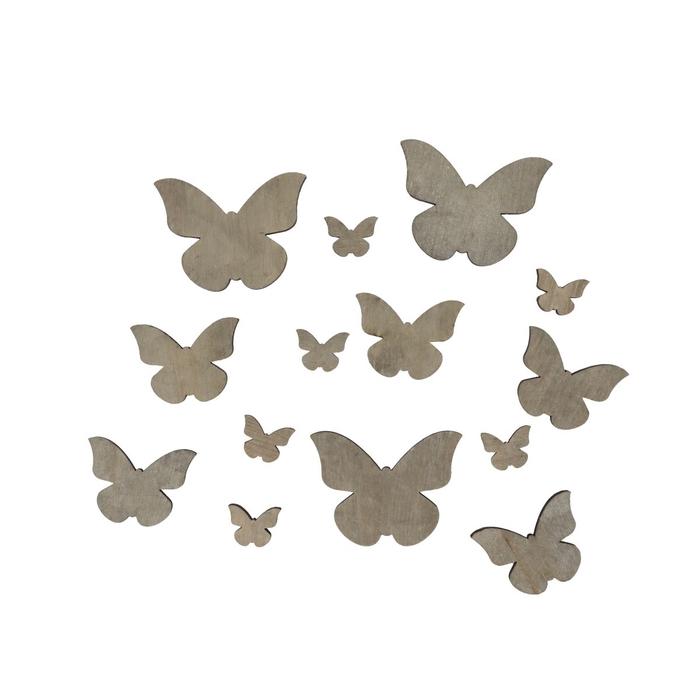<h4>Voorjaar Hout vlinder 2.5-7cm x18</h4>