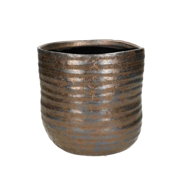 <h4>Ceramics Bronze pot d15.5*15.5cm</h4>