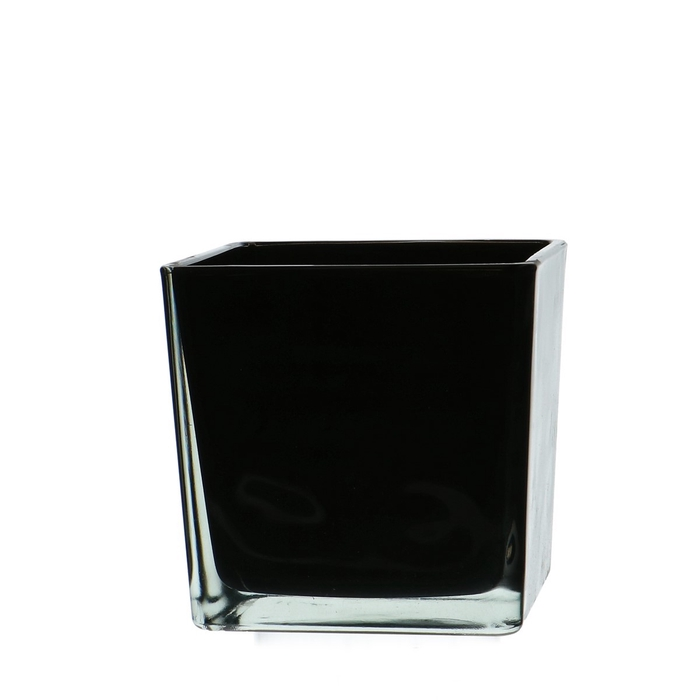 <h4>Glass colour Cube taper d12*12cm</h4>