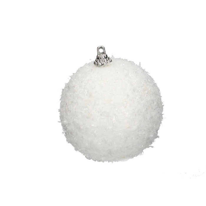 <h4>Christmas bauble Snowball d7cm x12</h4>