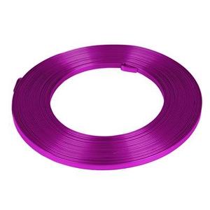 Aluminium wire flat - cerise 5mmx10m