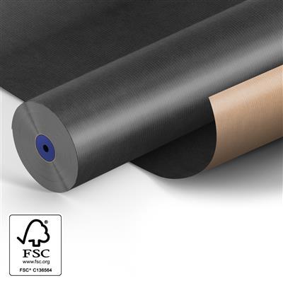 <h4>Papier: 50cm br. kraft 50gr Fond zwart 400m.</h4>
