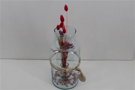 <h4>Arr. Driedflowers Glass Milano</h4>