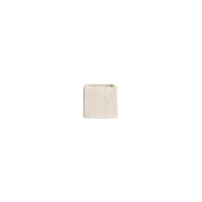<h4>WOOD PLANTER 10X10X9CM WHITE-WASH</h4>